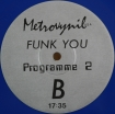 Cover 'Funk You! (Programme 2) (Blue Vinyl)' [Click to enlarge]