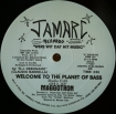 Cover 'Welcome To The Planet Of Bass (no Cat# on Label)' [Click to enlarge]