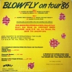 Cover 'Blowfly On Tour '86' [Click to enlarge]