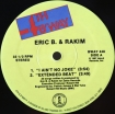 Cover 'I Ain't No Joke / Extended Beat / Eric B. Is On The Cut' [Click to enlarge]