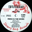 Cover 'Fresh Is The Word (Promo)' [Click to enlarge]